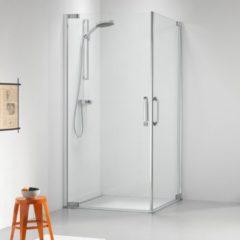 Sealskin Get Wet Impact douchecabine 90x90x195cm met hoekinstap chroom zilver hoogglans helder glas CL50090D330100