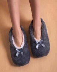 Sorprese cosy – pantoffels dames – grijs – maat 36-38 – sloffen dames