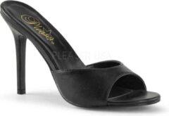 Pleaser Muiltjes met hak -35 Shoes- CLASSIQUE-01 US 5 Zwart