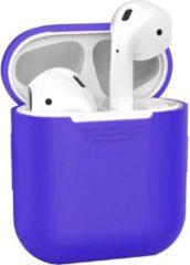 Donkerblauwe BTH Siliconen Bescherm Hoesje Cover voor Apple AirPods Case Donker Blauw