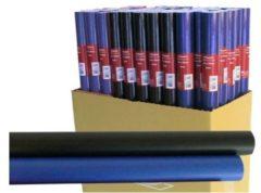 Blauwe Massamarkt Kaftpapier uni basis 2mx 70 cm