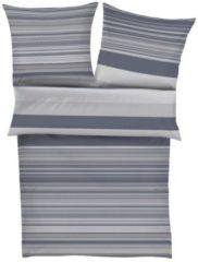 Flanell Bettwäsche Stripes Bugatti grau