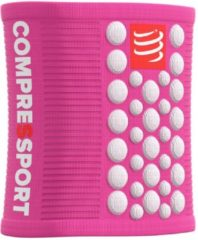 Roze Compressport Sweatbands 3D.Dots - PINK/WHITE - Uniq Size