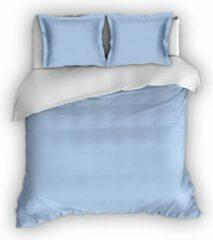 Warme Flanel Lits-jumeaux Extra Breed Dekbedovertrek Uni Blauw/Wit | 270x200/220 | Hoogwaardig En Zacht | Ideaal Tegen De Kou
