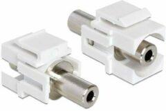 Zilveren Delock Keystone 3,5mm Klinke -> 3,5mm Klinke Bu/Bu