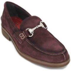 Bordeauxrode Mocassins Luis Gonzalo 7599H Zapatos de Hombre