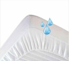 Witte Molton waterdicht luchtdoorlatend PU hoeslaken ledikant 60x120 rondom elastiek IDS.