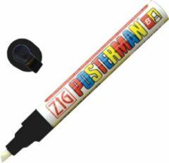 Witte Securit Zig Posterman weerbestendige krijtstift zwart 6mm