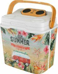 """LifeStory Speakooler koelbox met Bleutooth speaker """"Exotic Summer"""" 29 liter"""