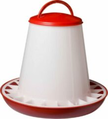 Beeztees Plastic voersilo met deksel rood wit 6kg