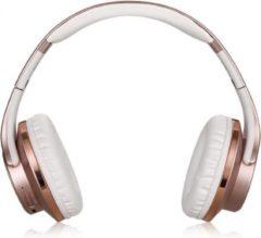 Roze Sodo On-Ear Bluetooth Koptelefoon Draadloos - Headset en Speaker in 1 - Rose Gold
