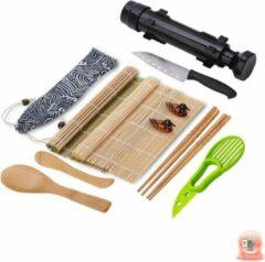 Groene Mr. Sushito Natural Black Bazooka set - Sushi set Incl. 2 paar Mr. Sushito Sticks - Sushi maker - Bamboo Rol - Milieuvriendelijk - Sushi Go
