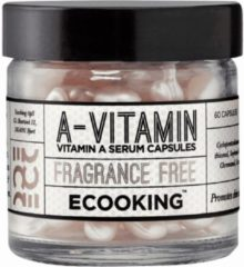 Ecooking Vitamin A Serum in Capsules - Serum met Retinol - Egaliseert - Anti Rimpel en Fijne Lijntjes - Bestrijdt Pigmentvlekjes en Onzuiverheden - Voor Alle Huidtypen - 60 Capsules