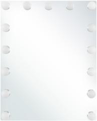 Witte Beliani Badkamerspiegel met LED-verlichting LUCENAY