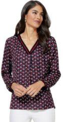 Rode Classic Inspirationen blouse met plisséplooien achter