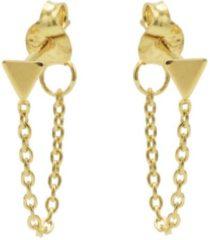 Karma Jewelry Karma Oorbellen Chain Triangle Goud