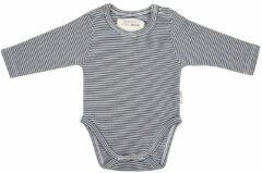 Little Indians Babykleding Onesie longsleeve Small Stripe Rib Blauw