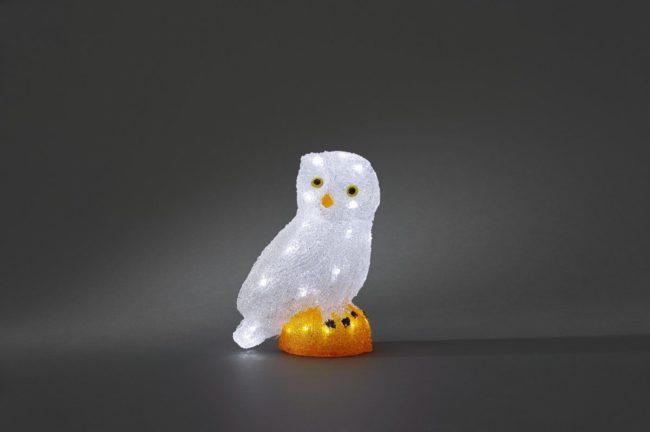 Afbeelding van Acryl figuur Energielabel: A (A++ - E) Uil Koud-wit LED Wit Konstsmide 6185-203