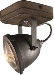 Bruine Freelight Woody Opbouwspot Vintage - 1 Lichts - Old Black - GU10