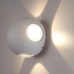 HOFTRONIC™ LED wandlamp Grijs Rond - IP54 - Vierzijdig oplichtend - 4 Watt - Austin - Uitermate geschikt voor binnen en buiten
