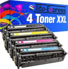Tito-Express PlatinumSerie 4 Toner XL PlatinumSerie voor HP CE410X CE411A CE412A CE413A Laserjet Pro 300 Color M351A 300 Color MFP M375NW 400 Color M451DN 400 Color M451DW 400 Color M451NW 400 M475DN 400 M475DW