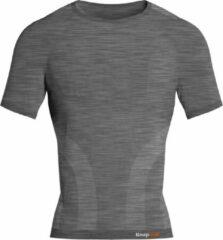 Knapman Knap'man Pro Performance Baselayer Shirt Short Sleeve Grijs Melange | Maat XXL