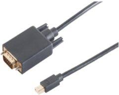 S-Impuls Mini DisplayPort naar VGA kabel - versie 1.2 / zwart - 2 meter