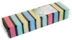 10x Gekleurde schuursponzen / sponzen - 9 x 6 x 3 cm - Schoonmaak / keukenartikelen