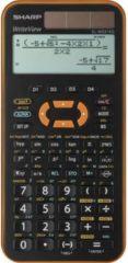 Sharp EL-W531 XG Schoolrekenmachine werkt op zonne-energie, werkt op batterijen Oranje Aantal displayposities: 12