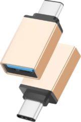 Merkloos / Sans marque OTG USB Type C 3.1 Data connector USB 3.0 vrouwelijk Metaal voor Telefoons \ Smartphones \ Tablets - goud