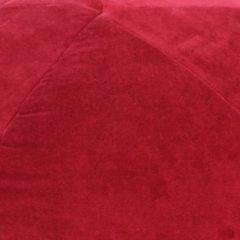 VidaXL Poef 50x35 cm katoenfluweel rood