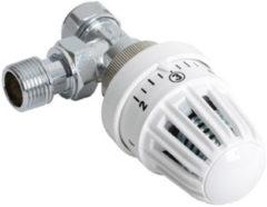 Witte Plieger thermostatische radiatorkraan haaks 15mm klemx1/2 bu wit RAD KRAAN HKS 1/2 WIT 4155008