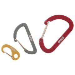 LACD - Accessory Biner Set - Materiaalkarabiner maat 3 Pieces, rood/grijs/wit