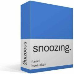 Snoozing flanel hoeslaken - 100% geruwde flanel-katoen - 1-persoons (80/90x200 cm) - Meermin