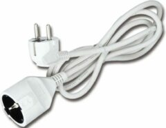 BES LED Verlengsnoer - Aigi Gamon - 3680W - 1 Stopcontact - 5 Meter - Wit | Nederland