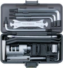 Grijze Topeak gereedschap Survival Gear Box inclusief houder
