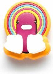 Canar Eend Tandenborstel Houder voor Kinderen met Zuignap - Regenboog
